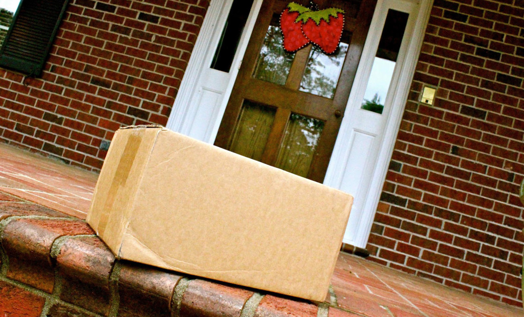 Image result for package at door