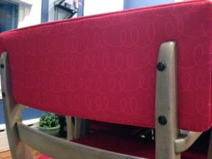 Loop-de-loop Raspberry by Trolleycat at Spoonflower
