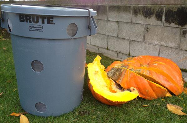 Compost Bin for Rotting Pumpkins