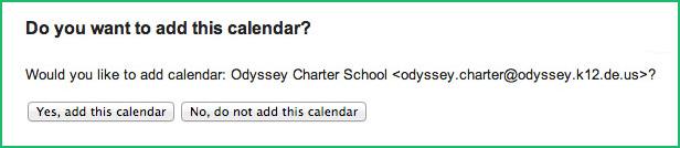 Odyssey Charter School Calendar